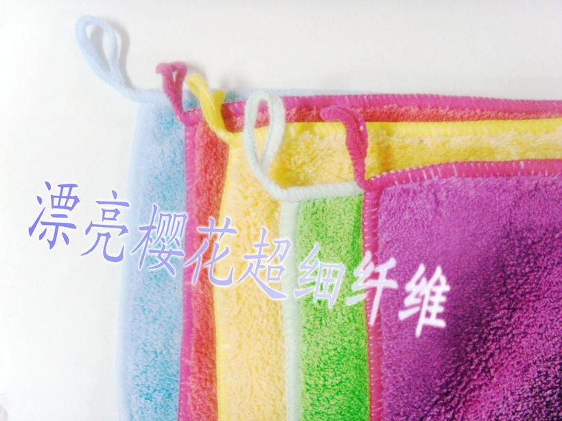 漂亮樱花微纤维珊瑚绒擦洁布(单面)批发