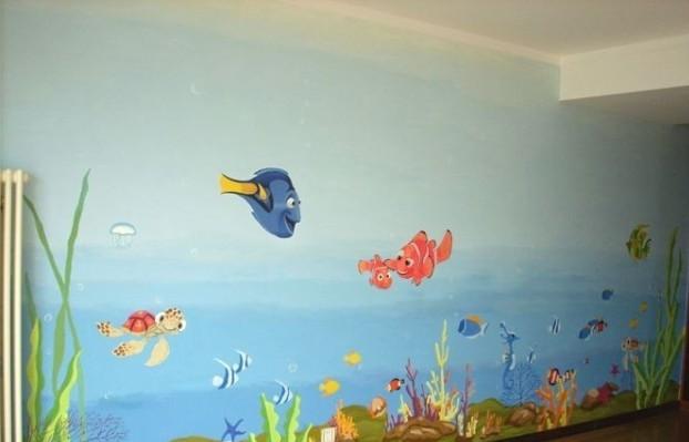 外墙,内墙幼儿园手绘壁画 喷画