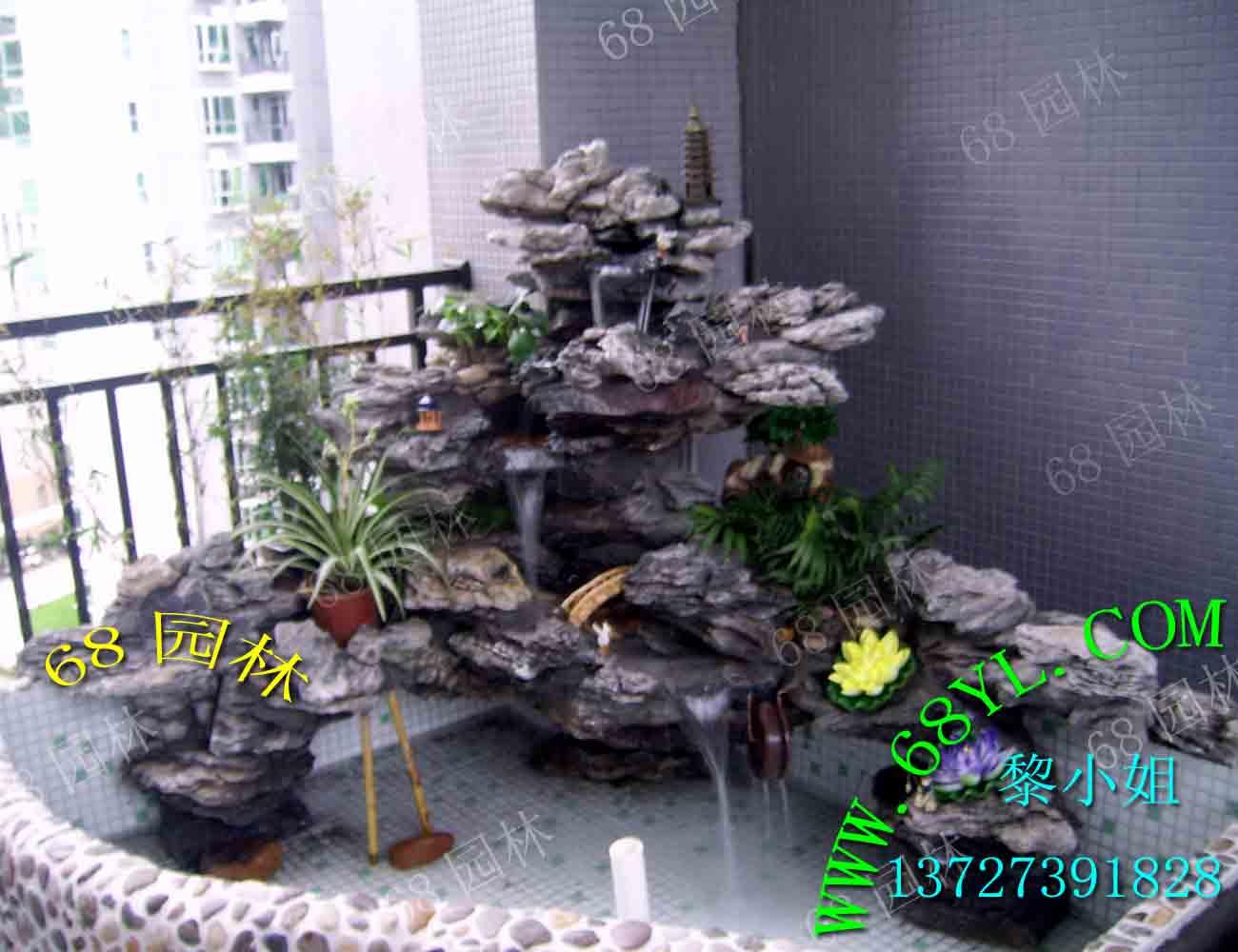供應入戶花園英石假山魚池制作/廣州佛山上門制作的