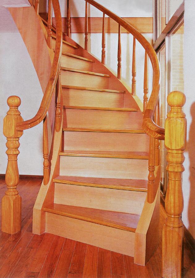 欧式风格实木楼梯图片