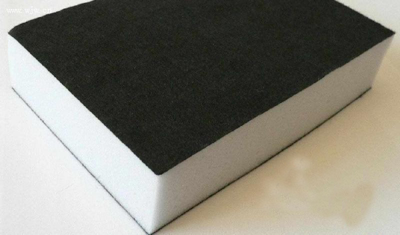 黑色植绒布 成分及含量; 背胶不干胶绒布贴; 内包装eva植绒护架贴绒布