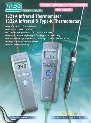 温度计图片 温度计样板图 热电耦温度计TES 1321 青岛路...