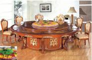 001豪华实木电动音乐喷泉餐桌图片