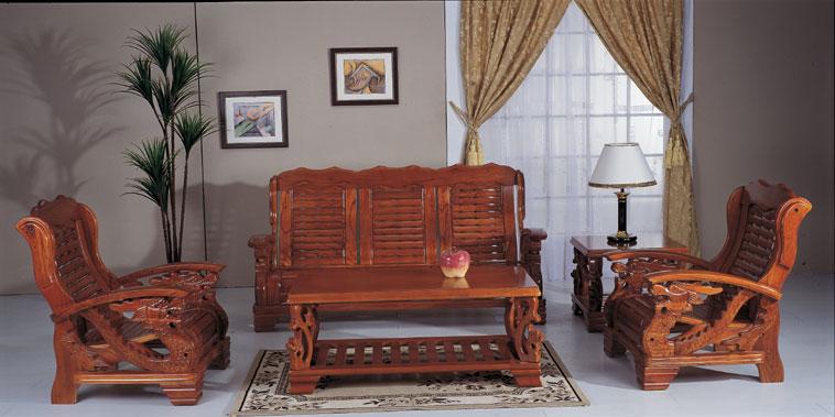 供应广东雕刻实木沙发