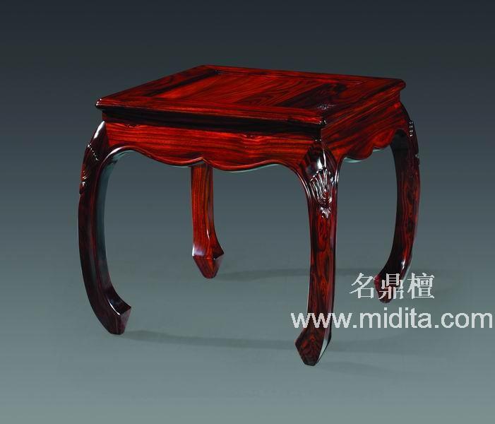 北京名鼎檀红木家具,红木茶几-平湖秋月小茶几图片