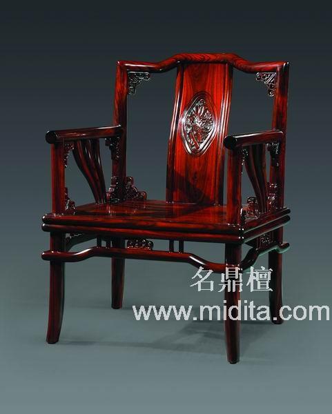 北京名鼎檀-东方神韵单人位红木沙发图片