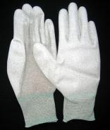 13针尼龙无尘防静电PU涂掌手套图片