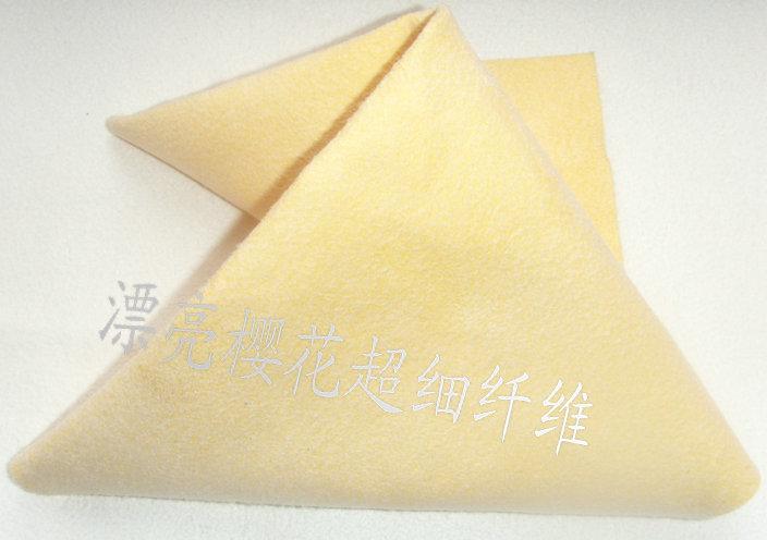 漂亮樱花微纤维韩国风格PU擦车布批发