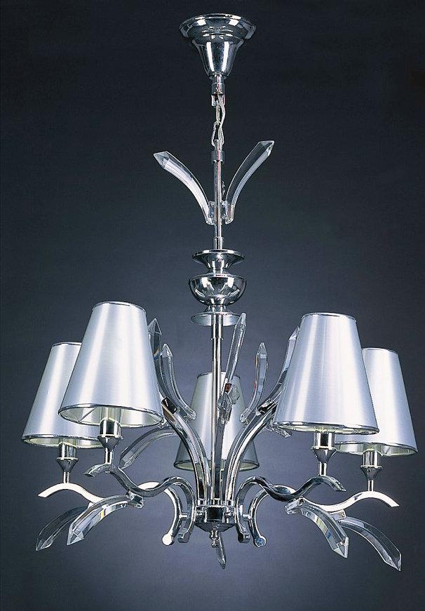 电镀银色水晶吊灯图片
