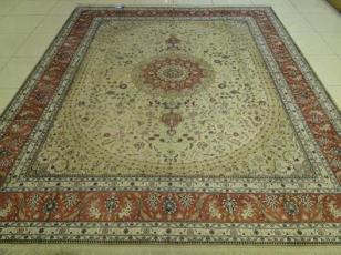 中国手工真丝地毯图片