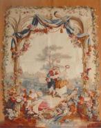 手工羊毛艺术挂毯图片