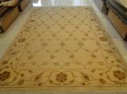 羊毛加真丝混合编织地毯图片