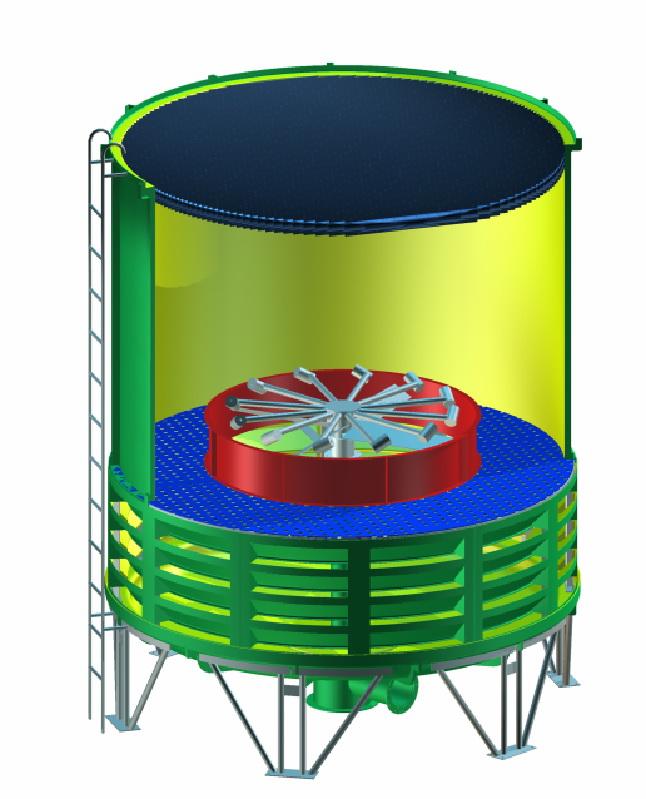 供应圆形无填料无电机冷却塔图片
