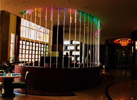 吊灯-光纤灯酒吧吧台亮化设计图片图片