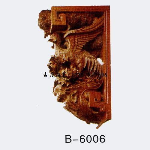 供应古月工艺东阳木雕牛腿b6006图片