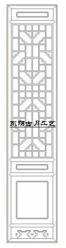 供应古月工艺东阳木雕仿古门窗D004