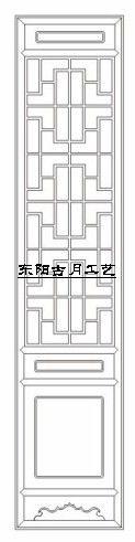 供应古月工艺东阳木雕仿古门窗D006