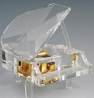 供应水晶钢琴音乐盒八音盒批发