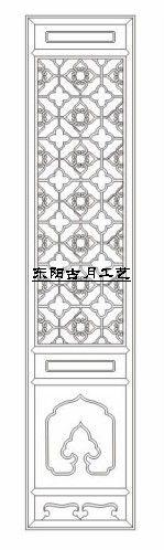 供应古月工艺东阳木雕仿古门窗D013