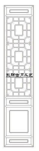 供应古月工艺东阳木雕仿古门窗D020