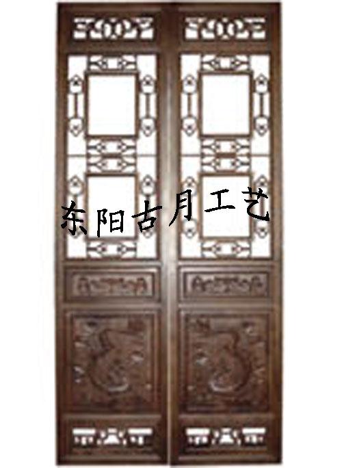 供应古月工艺东阳木雕仿古门窗J366