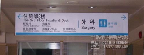 医院楼层指示吊牌