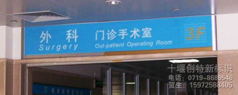 医院区域科室牌