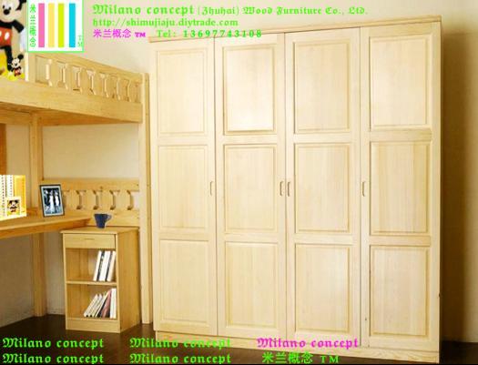 供应中山实木衣柜整体衣柜上下床儿童床 中山实木家具 中山原木家具