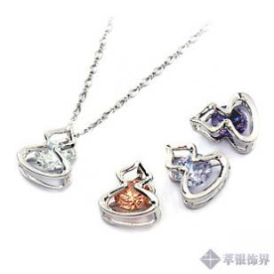 925纯银镶钻吊坠-葫芦图片