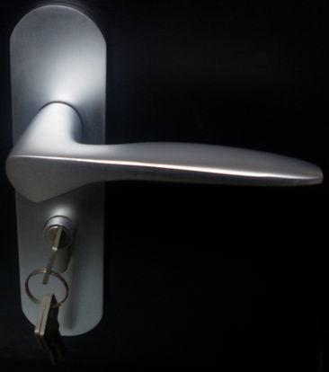 供应太空铝门锁、太空铝锁、插芯锁、防盗执手锁、门吸合页五金装饰配件批发