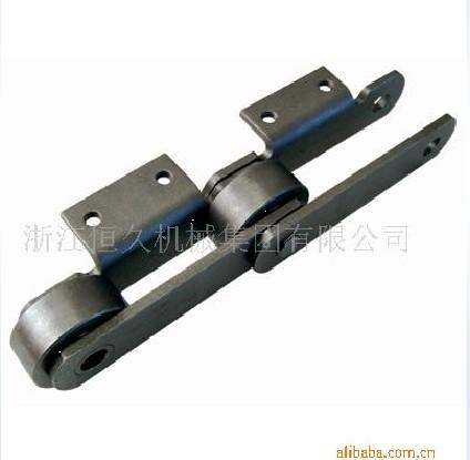 供应双节距大滚子带附件链条图片