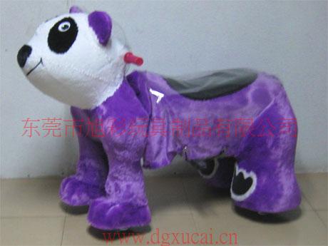 供应广场创业稳赚钱的毛绒电动玩具车动物系列电动玩具车图片