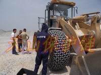 供应用于保护轮胎的装载机轮胎链条防滑链防护链/保护链配件销售批发