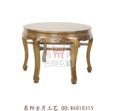 供应工艺品东阳圆桌子J056
