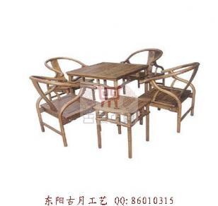 工艺品东阳反圈椅茶桌J047图片