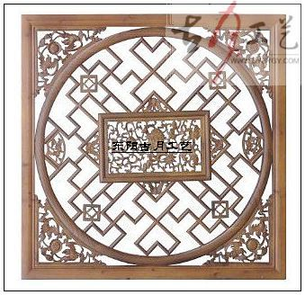 镂空 手工 雕刻 挂件/ 隔断 /70cm; 木雕挂件方形; 东阳木雕图片|东阳