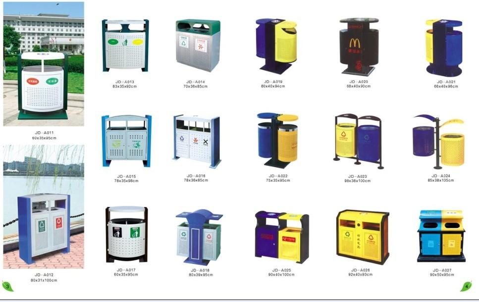 供应珠海塑料玻璃钢不锈钢垃圾桶供应;