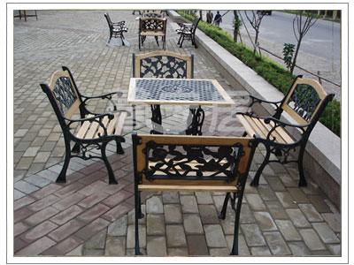 供应会馆家具铸铁桌椅
