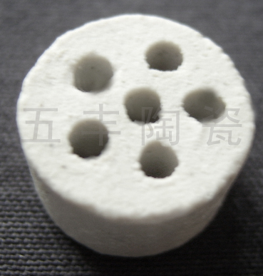 供应开孔瓷柱惰性氧化铝瓷柱