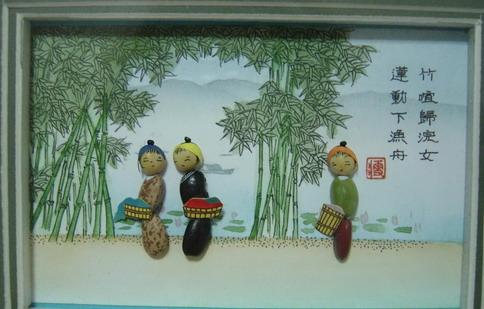 供应民间豆塑浮雕画制作工艺