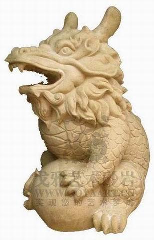 砂岩动物雕塑图片_砂岩动物雕塑图片大全
