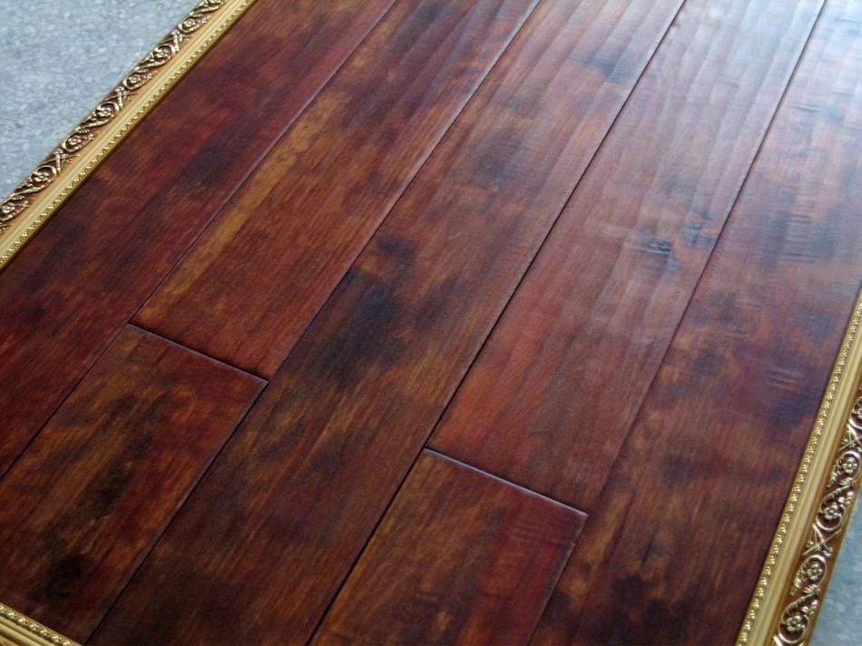 供应枫木地板——仿古浮雕批发
