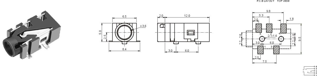 供应微型耳机插座