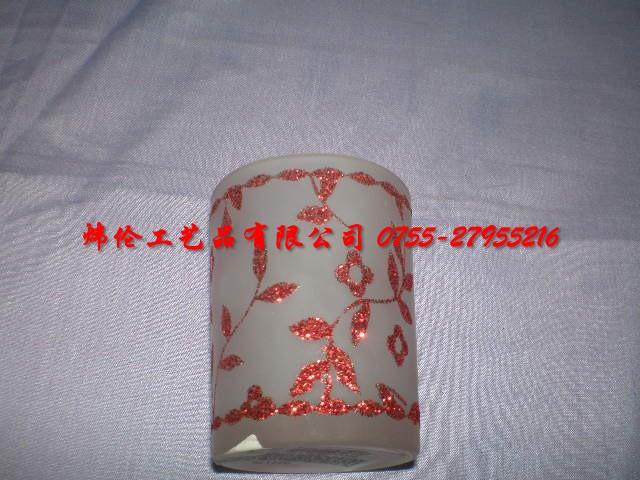 玻璃杯图片 玻璃杯样板图 玻璃杯贴花加闪粉 炜伦工艺有限...