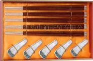 镶银乌木筷图片