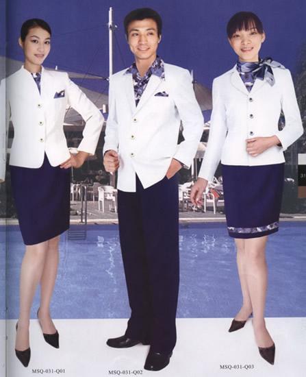 供应酒店制服定做上海宾馆酒店工作制服
