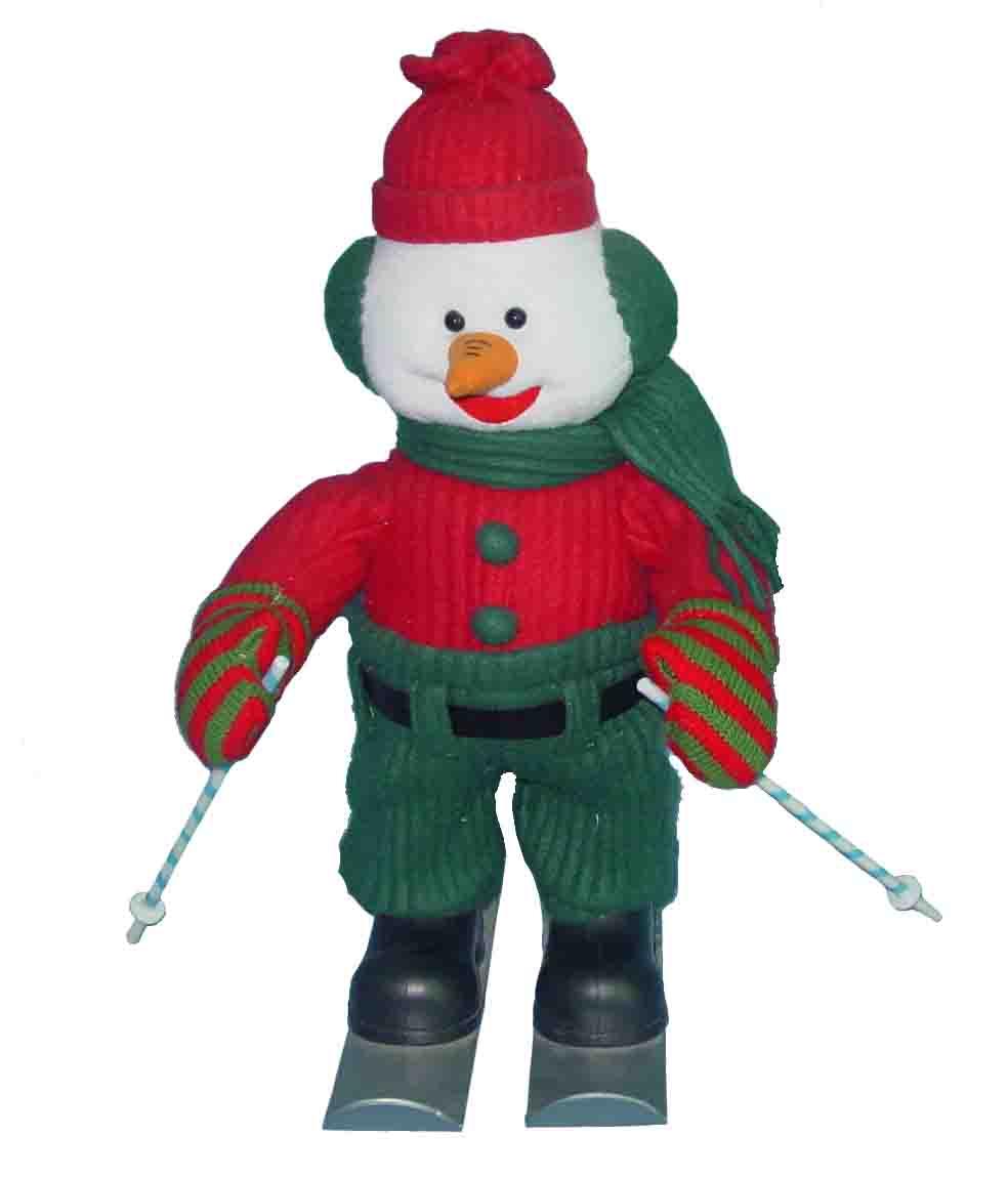 圣诞滑雪雪人图片