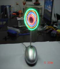 供应USB闪光风扇、促销礼品、电脑风扇、发光礼品批发