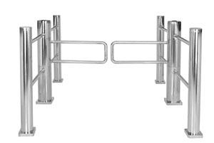 供应商场通道圆柱摆闸(圆柱型摆闸)、柱体摆闸图片