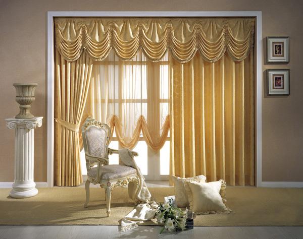 欧式窗帘幔头效果图